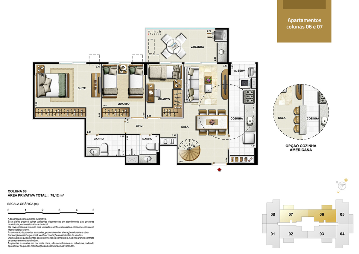 Apartamento colunas 6 e 7